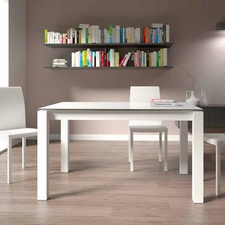 Mesa de comedor extensible hasta 220 cm de diseño moderno Made in Italy - Minno