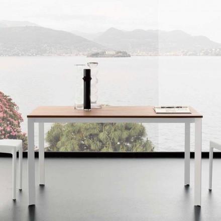 Mesa de comedor extensible hasta 230 cm en melamina Made in Italy - Platino