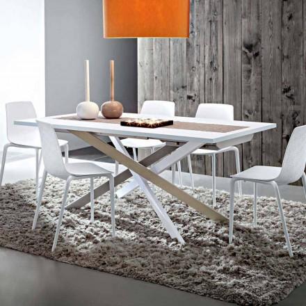Mesa de comedor extensible hasta 250 cm en Fenix Made in Italy - Carlino