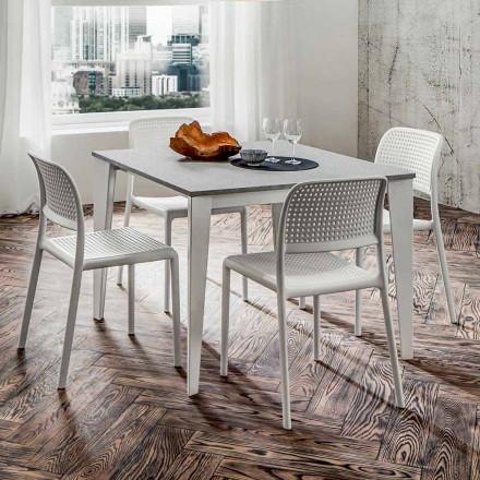 Mesa de comedor extensible hasta 252 cm en HPL Made in Italy - Efisto