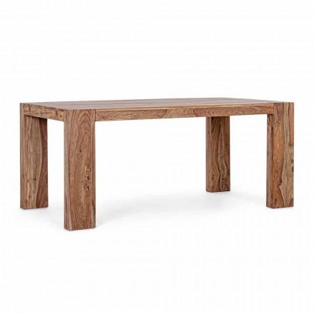 Mesa de comedor de madera Homemotion extensible hasta 265 cm - Bruce