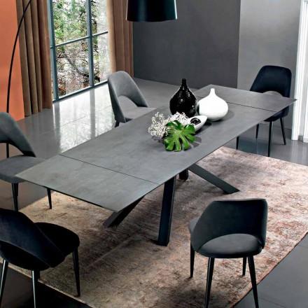Mesa de comedor extensible hasta 300 cm en laminado Made in Italy - Settimmio