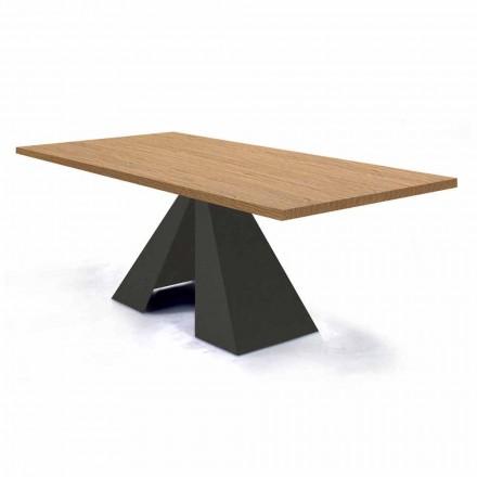 Mesa de comedor extensible hasta 300 cm en madera Made in Italy - Dalmata