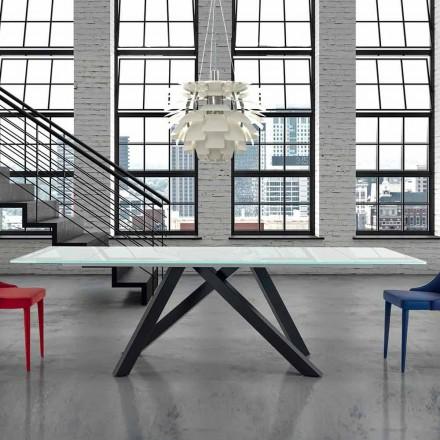 Mesa de Comedor de Vidrio Extensible hasta 300 cm Hecho en Italia - Settimmio