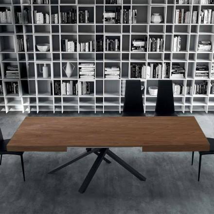 Mesa de comedor extensible hasta 310 cm en madera y acero - Argentario