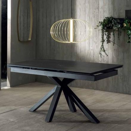 Mesa de Comedor de Diseño con Tablero Cerámica Extensible hasta 240 cm - Ultron
