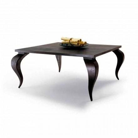 Mesa de comedor de diseño de lujo en madera maciza, hecha en Italia, Filo