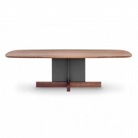 Mesa de comedor de diseño con base cruzada Made in Italy - Mesa cruzada Bonaldo