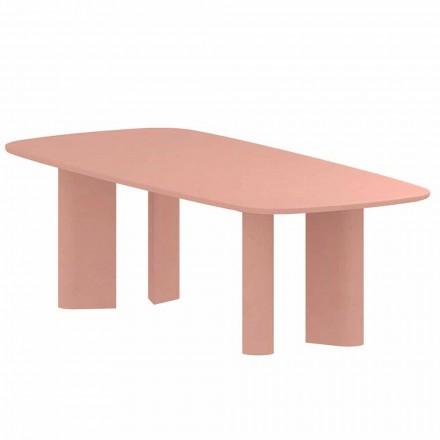 Mesa de comedor de diseño en arcilla Made in Italy - Mesa geométrica Bonaldo