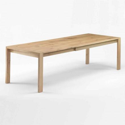 Mesa de comedor extensible de madera hasta 340 cm Made in Italy - Sauce