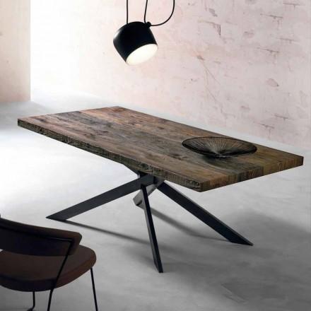 Moderna mesa de comedor de madera maciza hecha en Italia Oncino