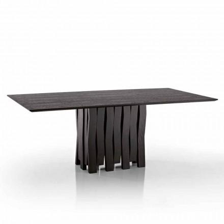 Mesa de comedor de diseño en madera MDF hecha en Italia, Egisto