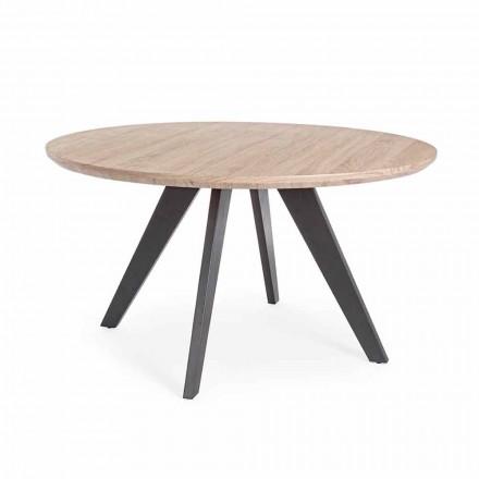 Mesa de comedor moderna con tapa redonda en Homemotion revestido de MDF - Varna