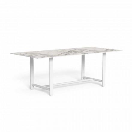 Mesa de comedor exterior con tapa de gres, alta calidad - Riviera by Talenti