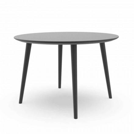 Mesa de comedor de jardín redonda en aluminio blanco o carbón - Sofy Talenti
