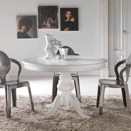 Mesa de comedor clásica de madera maciza modelo Oliva