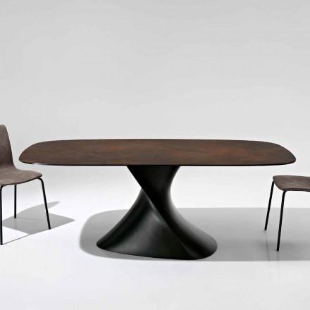 Mesa de diseño moderno en vitrocerámica hecha en Italia, Clark.