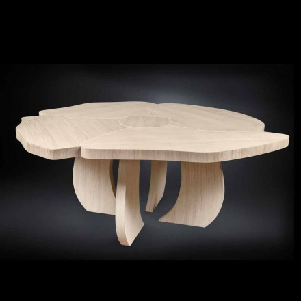 Mesa de madera de roble cepillado con acabado de cera Andy