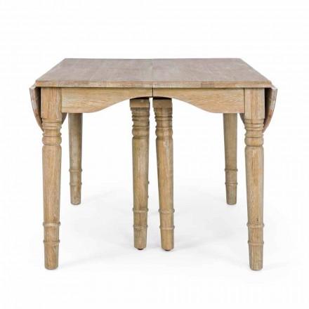 Mesa clásica de madera maciza extensible hasta 382 cm Homemotion - Brindisi