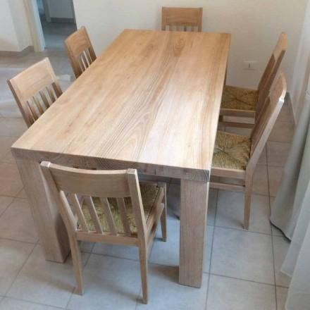 Mesa de madera de fresno macizo de diseño clásico hecha en Italia - Nicea