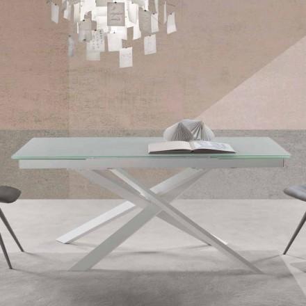 Mesa extensible de diseño moderno en vidrio - Marliana