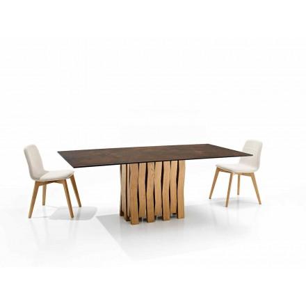 Mesa de diseño moderno en vitrocerámica hecha en Italia, Egisto.