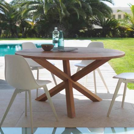Mesa de jardín redonda en madera de caoba Bridge by Talenti