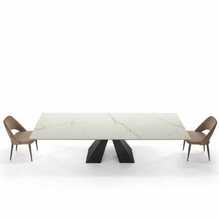 Mesa Extensible Moderna hasta 300 cm en Mármol Hecho en Italia - Dalmata