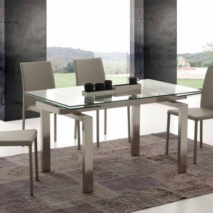 Mesa de comedor extensible Georgia, diseño moderno