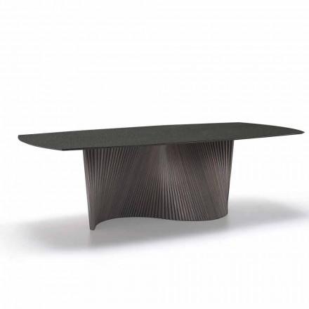 Mesa moderna con encimera de gres con efecto mármol hecha en Italia, Adrano