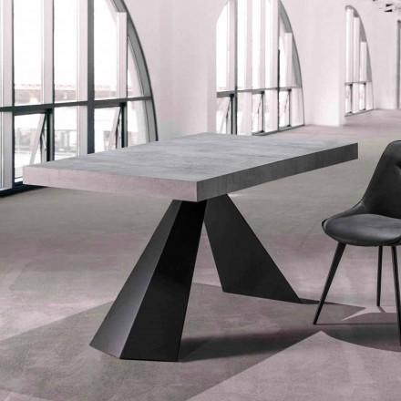 Mesa de comedor con tapa extensible hasta 290 cm en madera - Doriano
