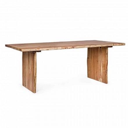 Mesa de comedor moderna de madera de acacia Homemotion - Pinco