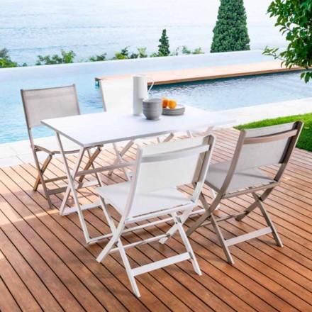 Mesa plegable de jardín modelo Queen