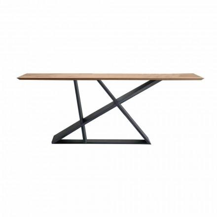Mesa de comedor extensible hasta 294 cm en madera, calidad Made in Italy - Cirio