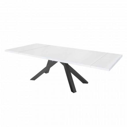 Mesa de comedor extensible hasta 300 cm en melamina Made in Italy - Settimmio