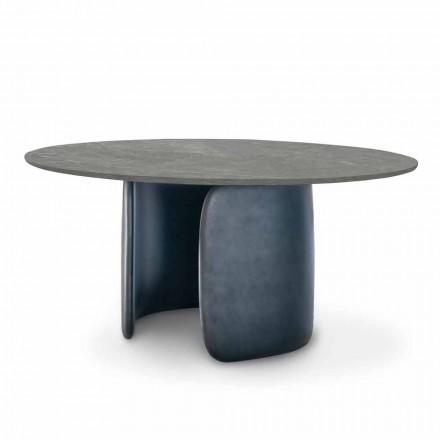 Mesa de comedor de cerámica con base de poliuretano Made in Italy - Mellow Bonaldo