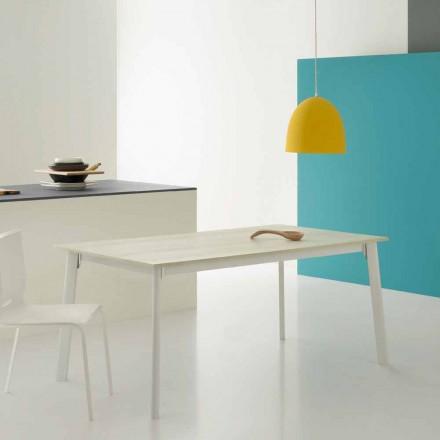 Mesa extensible rectangular moderna con 6/8 asientos - Sellia Basic