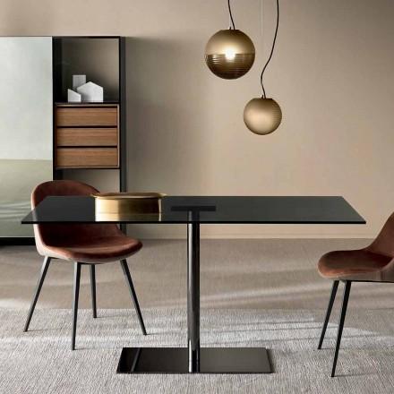 Mesa rectangular moderna en vidrio ahumado o extraligero Made in Italy - Dolce