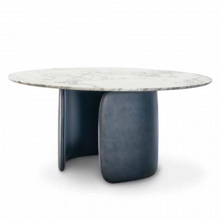 Mesa redonda de diseño con tapa de mármol pulido Made in Italy - Mellow Bonaldo