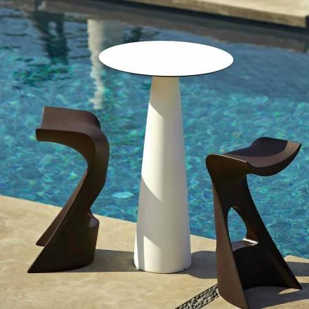 Mesa de jardín redonda en polietileno y hpl Slide Hoplà (H110)