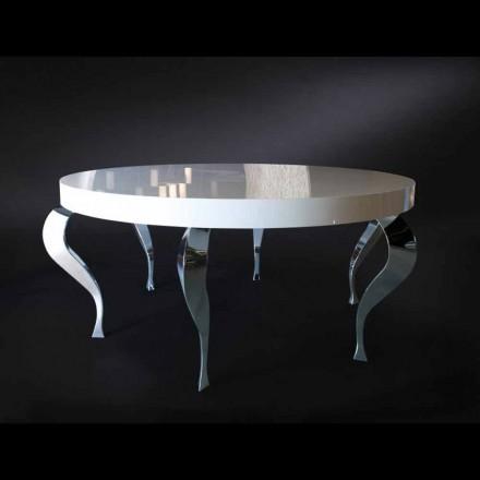 Mesa redonda con estilo clásico de MDF y acero modelo Luigi
