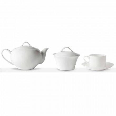 Tazas de té apilables Servicio de desayuno 14 Piezas en Porcelana - Romilda