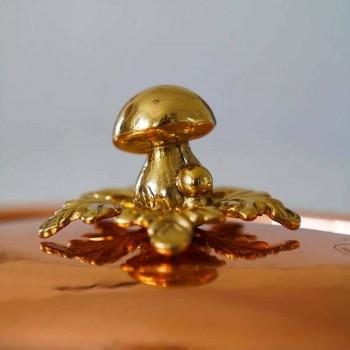 Cacerola de Cobre Estañado a Mano con Tapa ovalada 31x22 cm - Mariachiara