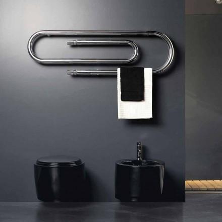 Radiador eléctrico de diseño con acabado cromado Graffetta Scirocco H