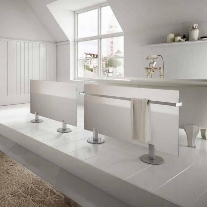 Radiador eléctrico de suelo de diseño moderno en vidrio estrella blanco