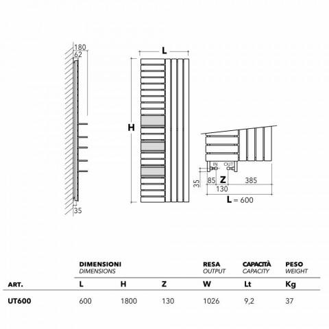 TERMOARREDO diseño de acero hidráulico con estantes Utilidad Scirocco H
