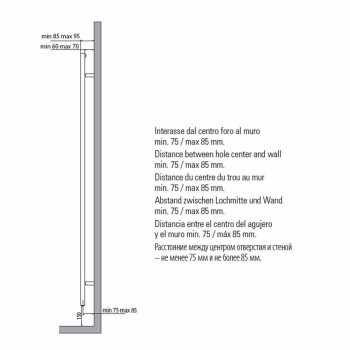 Calentador de toallas de radiador Diseño cuadrado de baño en acero 412 W - Torre