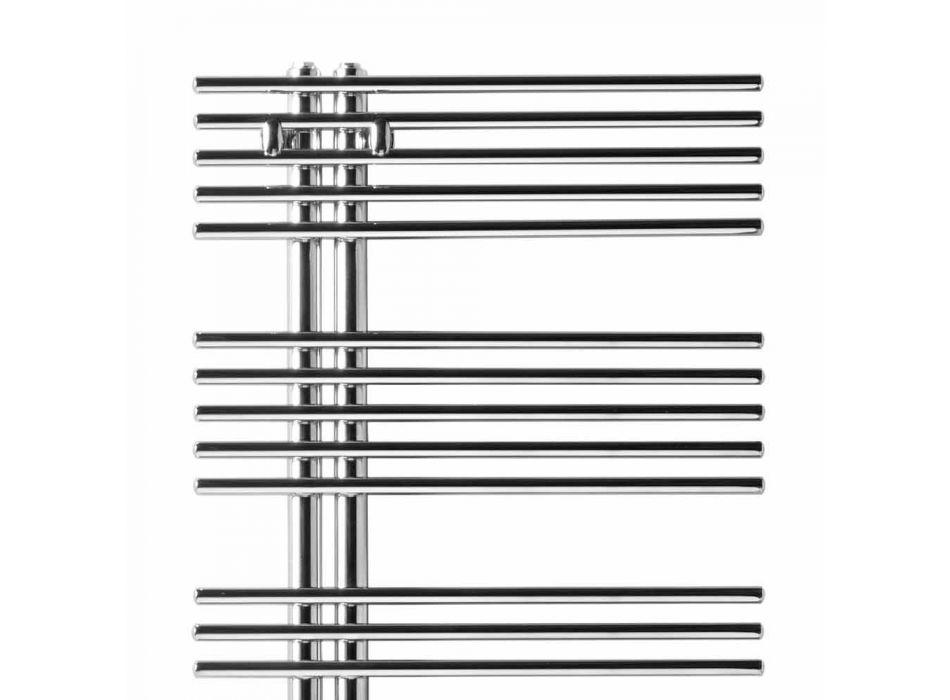 Calentador de toallas para radiador cromado en acero Diseño hidráulico 483 W - Pavone