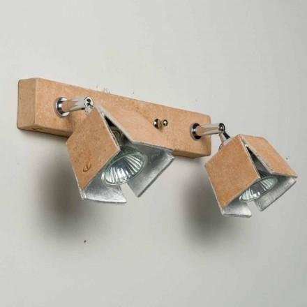 Toscot Piastra lámpara con 2 luces direccionales hecha en Toscana
