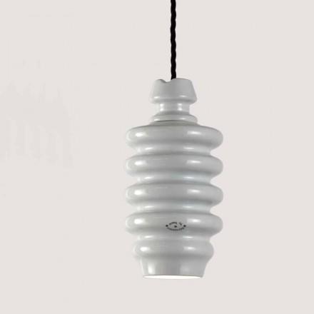 Toscot Battersea lámpara suspendida realizada en cerámica blanca